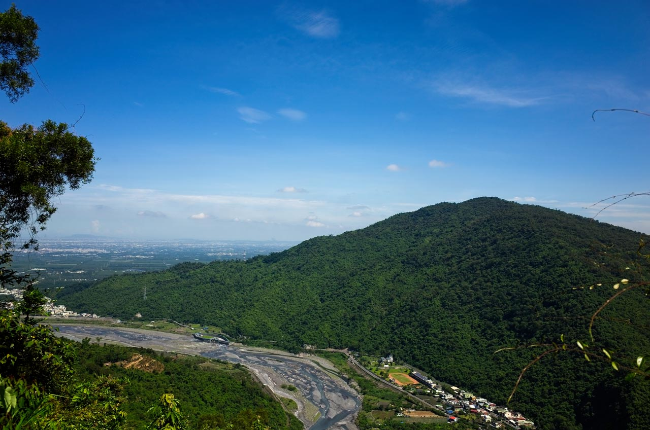 Parts of Laiyi below - mountain in background