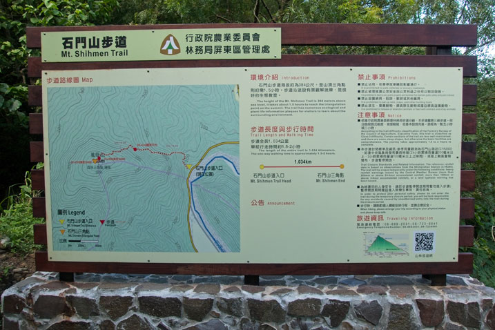 Sign with map of the trail and other info