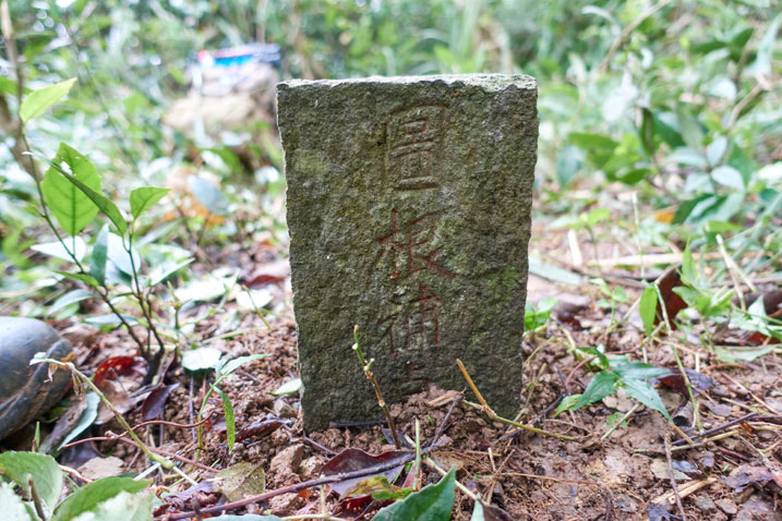 PenMaoLiShan NanFeng - 盆貿里山南峰 peak marker - Chinese words on side
