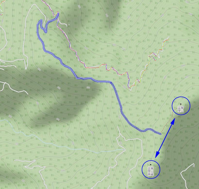 map of PenMaoLiShan & PenMaoLiShan NanFeng - 盆貿里山 & 盆貿里山南峰