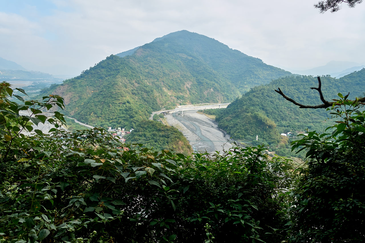 View of the mountains and river from the Maolin entrance area - WeiLiaoShan Hike – 尾寮山