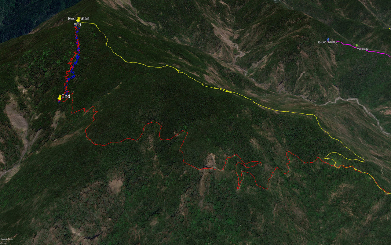 Google Earth Map of the BeiHuLuShan 北湖呂山 Trails