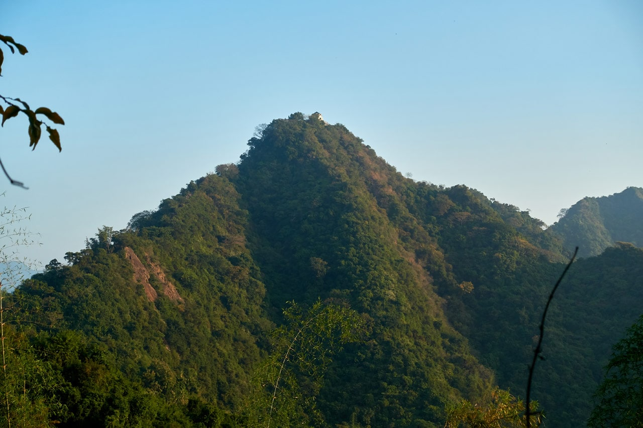 Viewing QiWeiShan 旗尾山 from a distance -