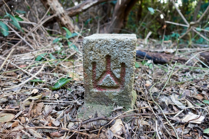 Front side of stone marker from WuTanShan - 武潭山 Peak