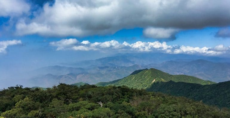 Panoroamic view of Taiwan mountains from Lilongshan 里壠山 Peak