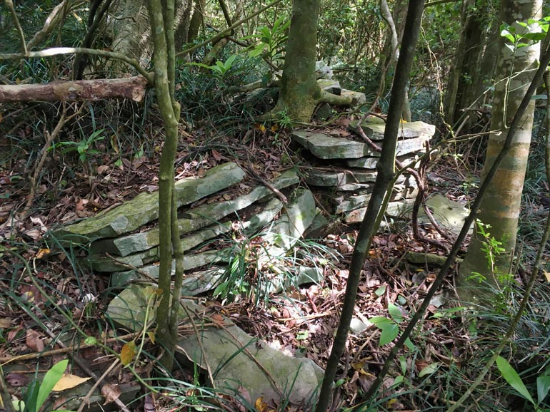 Stones stacked