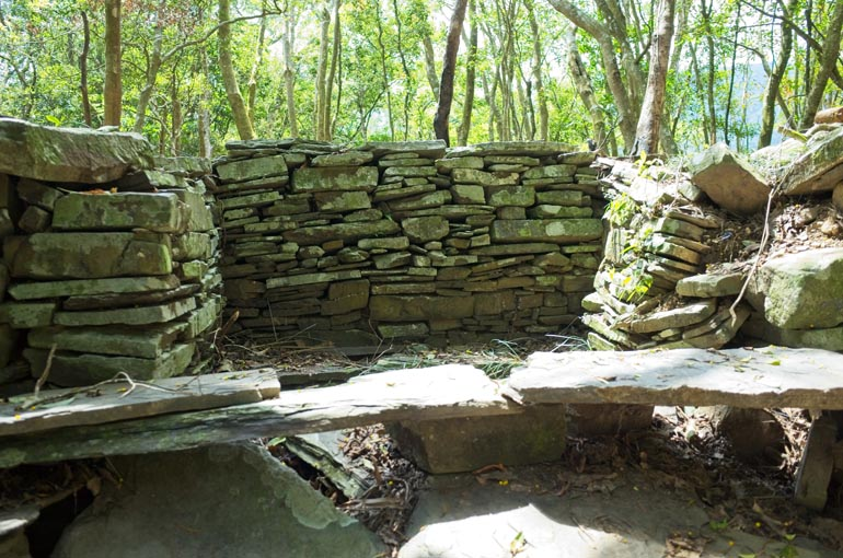 Stone foundation and stone bench