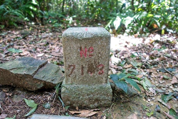 WangZiShan 網子山 Triangulation marker - No 7143