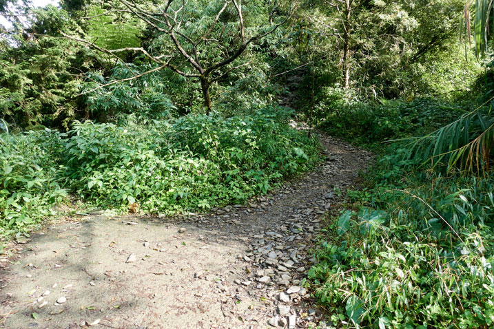 Old concrete road ends - mountain trail begins