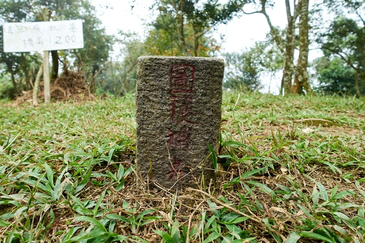 真笠山東北峰 triangulation stone closeup