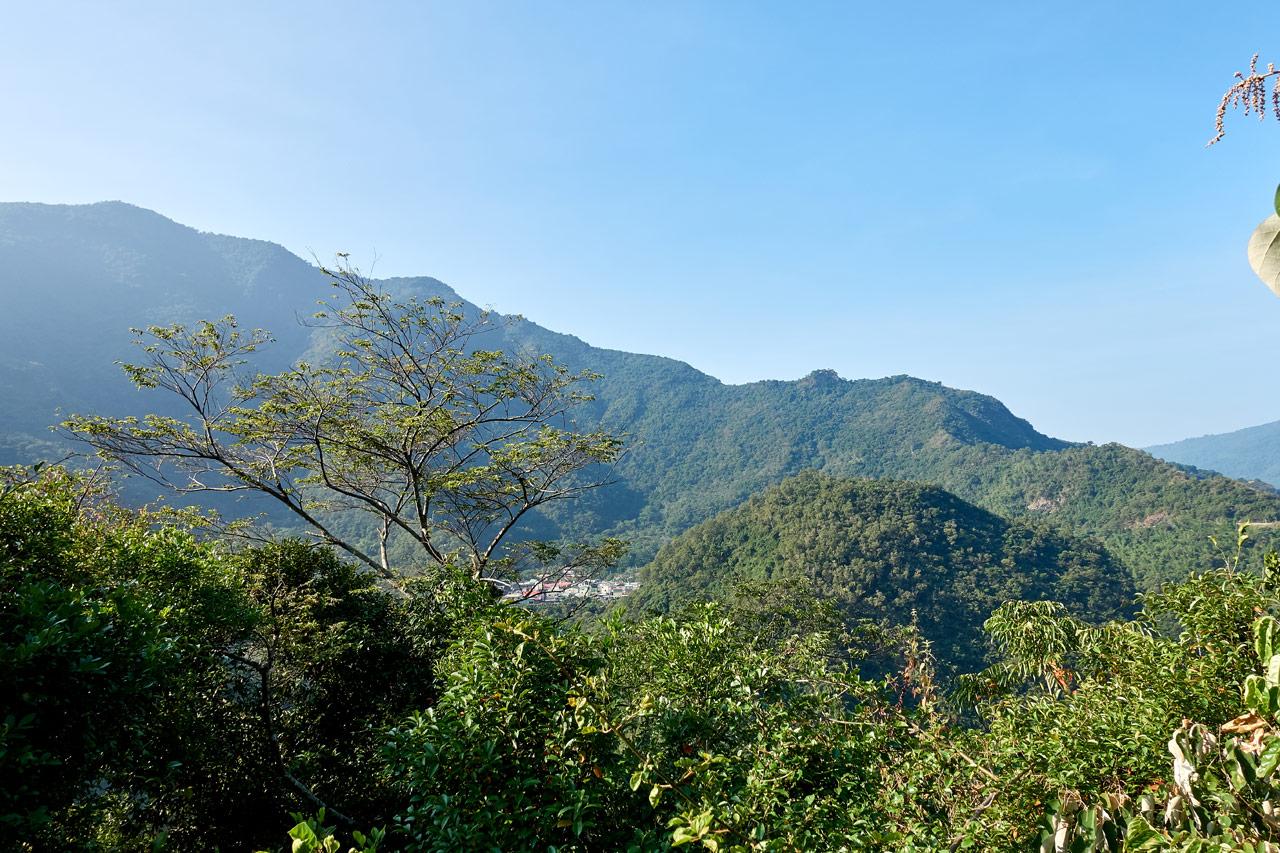 Panoramic mountain view - village in distance - ZuMuShan 足母山