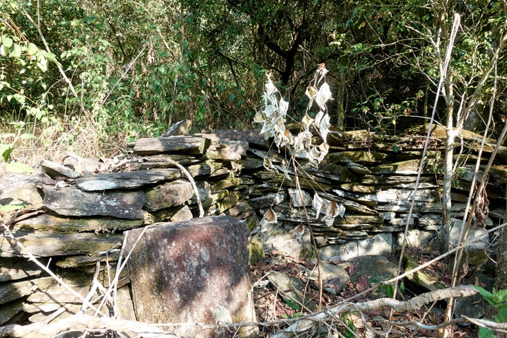 Rocks stacked for unknow purpose - ZuMuShan 足母山