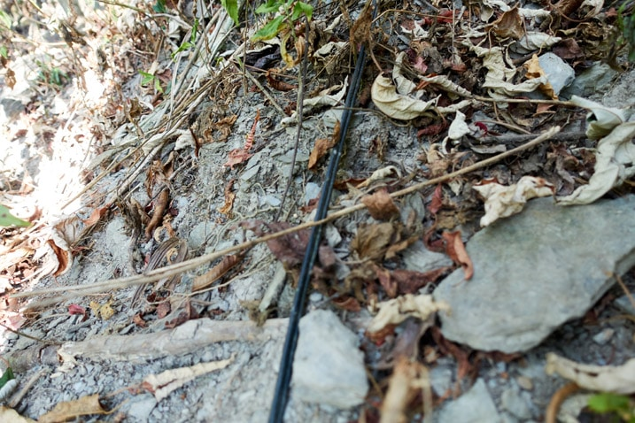 Black cable on ground