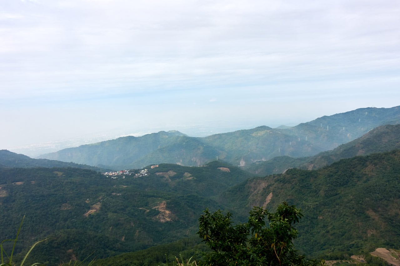 Looking down at the lower mountains and small village - BeiHuLuShan 北湖呂山