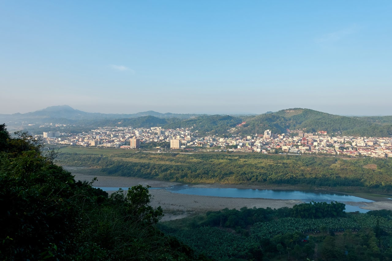 View of CiShan city from the 旗月縱走 trail