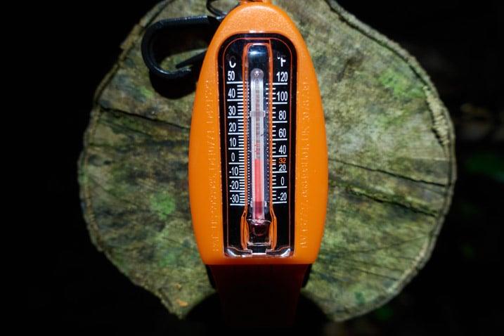 Orange thermometer