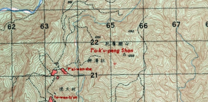 托庫棚山 tokupengshan map