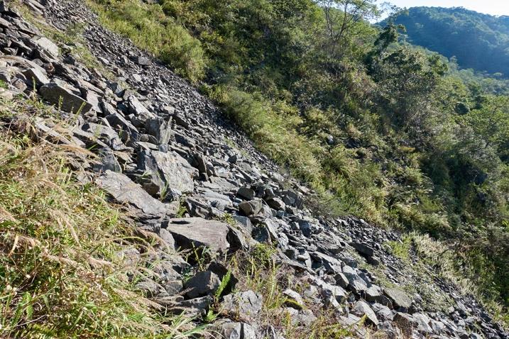 Rocky landslide