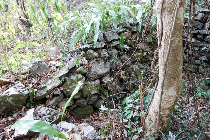 Stone structure built by Taiwan aboriginals