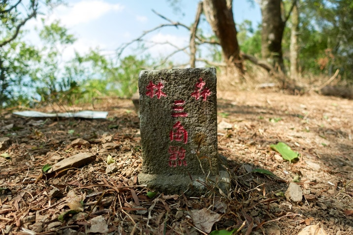 One side of a triangulation stone