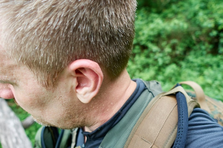 Man's head and ear