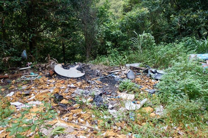 Garbage heap in mountains