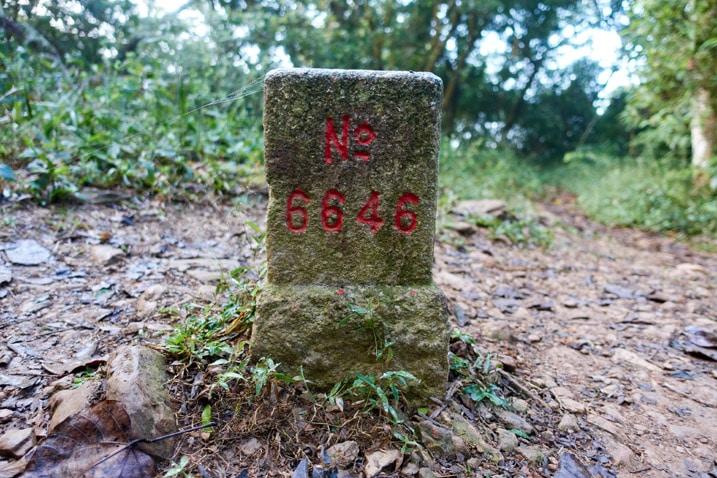 Triangulation stone for PengJiShan 棚集山