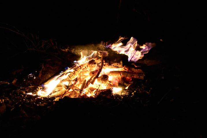 Campfire - black all around the fire