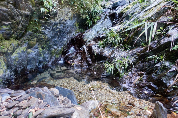Small pool of water - rocky